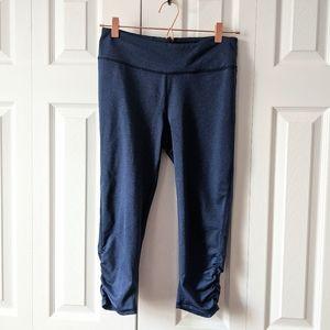 GAIAM capri crop workout leggings blue size M